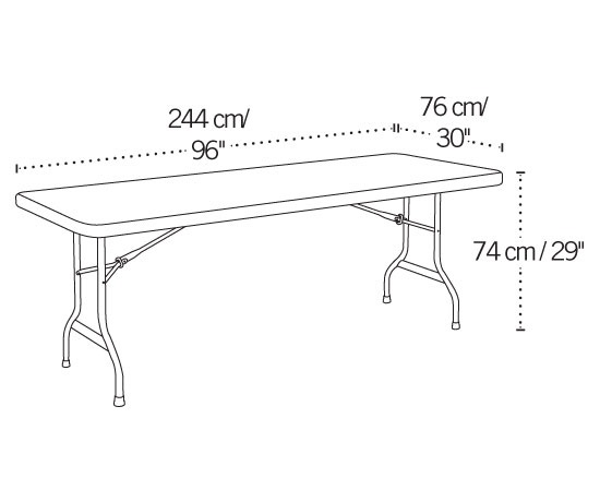 8 Foot Banquet Table Dimensions Lifetime 8-ft 42980 Rectangular Tables 4 Pack White Granite Color Top