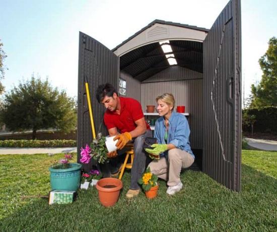 sheds lifetime storage sheds 60014 7 ft wide garden shed